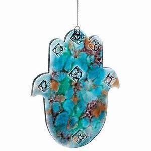 Mediterranean Sea Hamsa - Glass