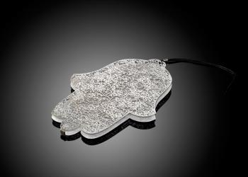 Sleeping Beauty Hamsa - Stainless Steel