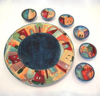 Seder Plate Jerusalem by Emanuel, Yair