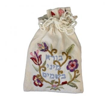 Floral Spice Bag - Embroidered Cloth