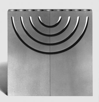 Split Image Shabbat Candlesticks, Menorah and Sculpture