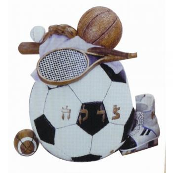 Sports Tzedakah Box - Resin