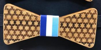 Wooden Bow Tie Star of David