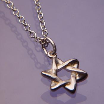 Star of David Necklace - Sterling Silver