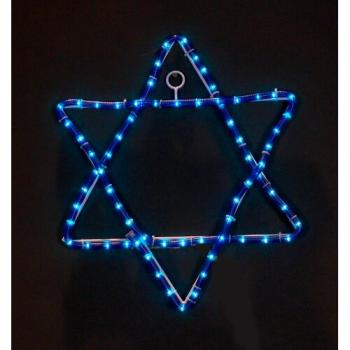 Star of David Rope Light