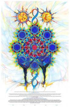 Starry Kaleidoscope Ketubah
