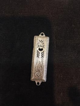 Sterling Silver Small Mezuzah by Zadok