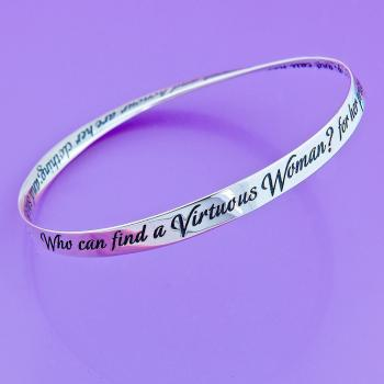 Woman of Valor Bangle - Sterling Silver