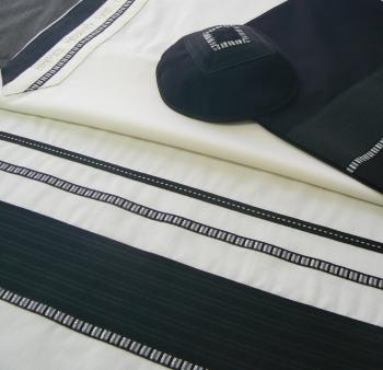 Men's Traditional Tallit Set by Eretz Judaica