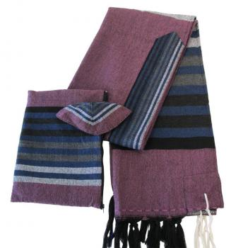 Tallit in Wool - Lavender by Gabrieli -