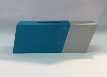 Modern Colorful Tzedakah Box - Aluminum