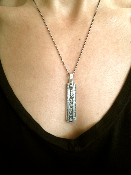 This Too Shall Pass Necklace by Marla Studio - Sterling Silver