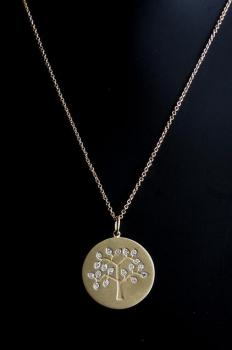 Diamond Tree of Life - Yellow Gold