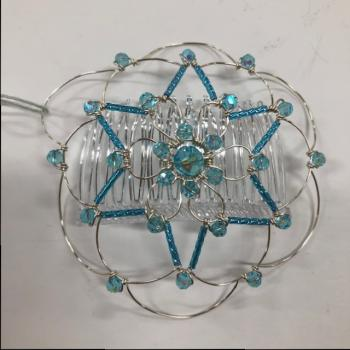 Turquoise Silver Star Wire Kepa