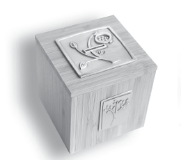 Pomegranate Tzedakah Box - Pewter