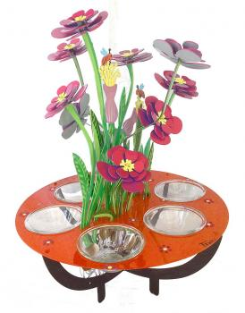 Passover Seder Plate - Joyful Flowers by Tzuki Studio