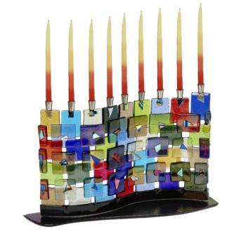 The Wall Menorah by Tamara Baskin - Glass