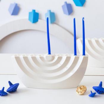 Wavy Hanukkah Menorah