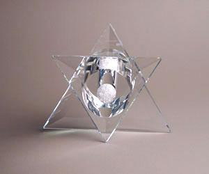 Star of David Sculpture - Glass