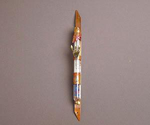 Wedding Glass Mezuzah - Copper and Glass