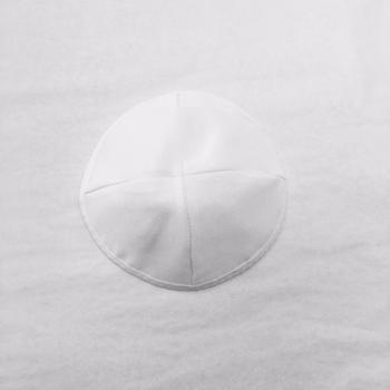 Elegant White Kippah