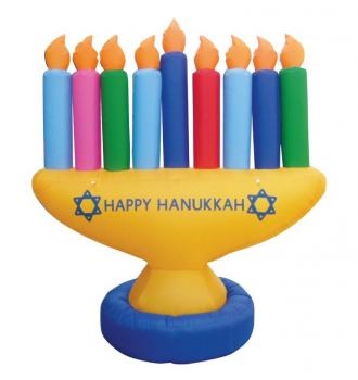 Inflatable 7' Menorah Decoration