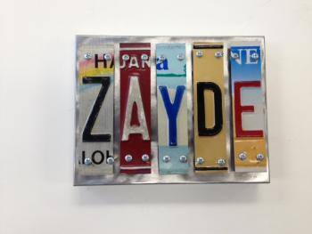 Zayde Letter Art - Metal