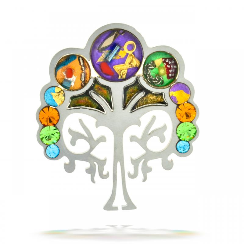 Tree of Life Pin - Stainless Steel