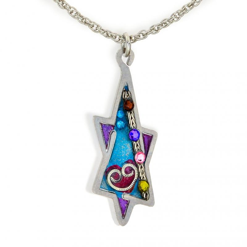 Seeka Purple Star of David Necklace