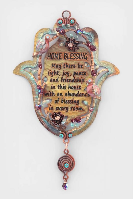 English Home Blessing and Roses Hamsa
