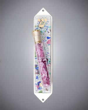 Fused Mezuzah with Tube for Shards - Glass