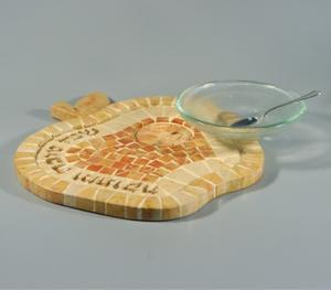 Gilboa Apple and Honey Dish - Jerusalem Stone