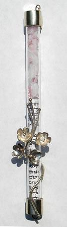 Wedding Glass Mezuzah by S.D. Cooper - Sterling Silver