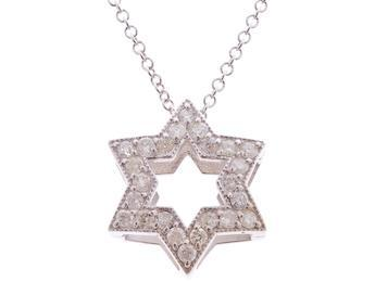 Large Pave Star of David Necklace