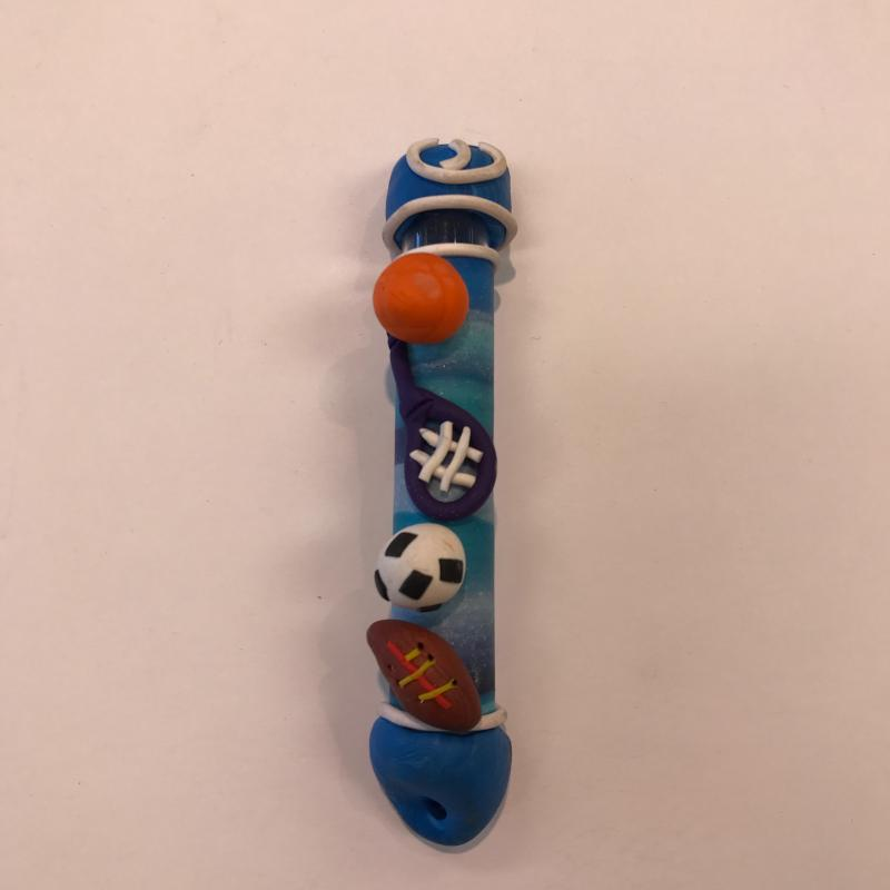SPORTS MEZUZAH - FIMO CLAY