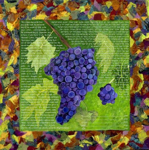 In The Vineyard Ketubah