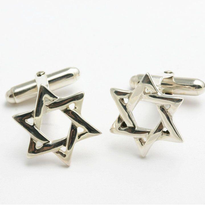 Star of David Cuff Links - Sterling Silver