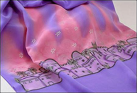 Women's Tallit Set Jerusalem - Pink & Purple PSI-47