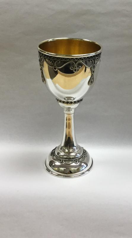 Traditional Kiddush Cup - Sterling Silver