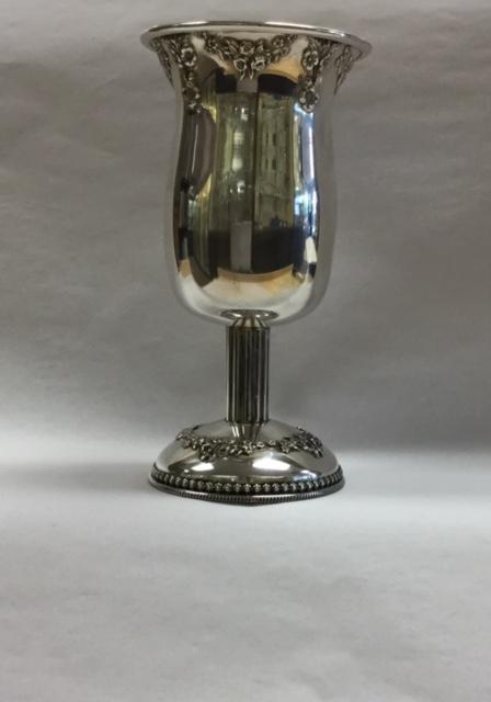 Simple Silver Kiddush Cup - Sterling Silver