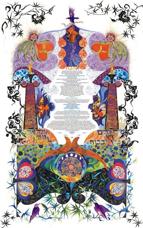 Midnight Fire Ketubah