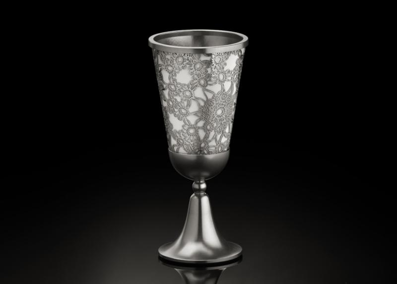 Late Blooming Kiddush Cup - Metal