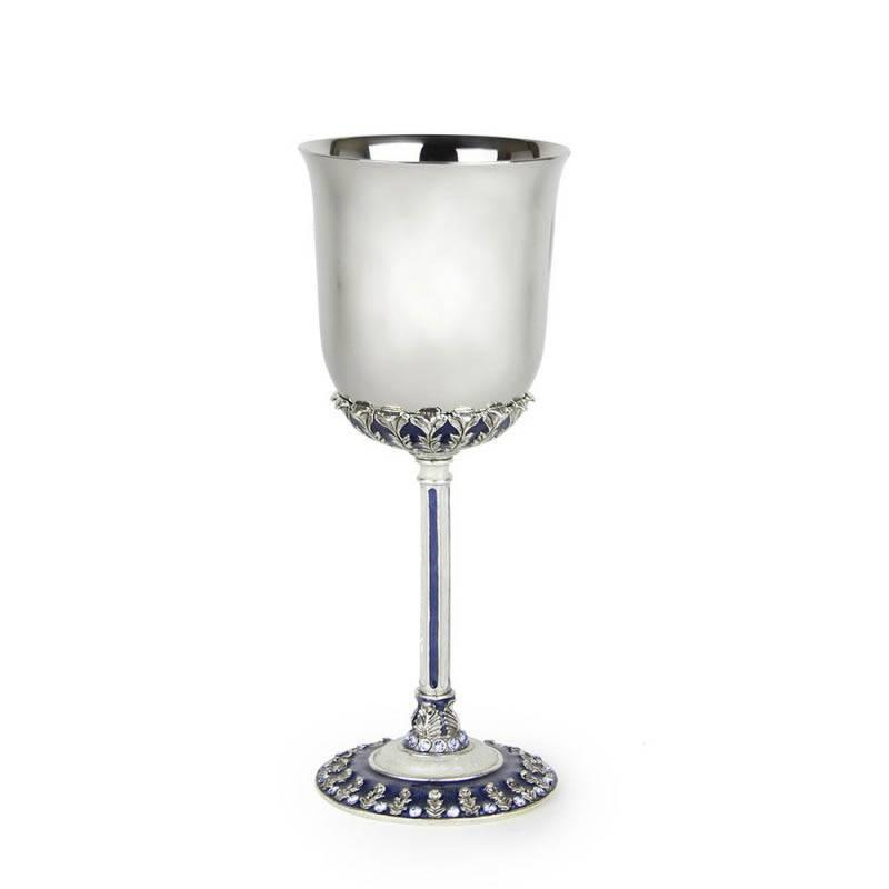 Blue Laurel Kiddush Cup