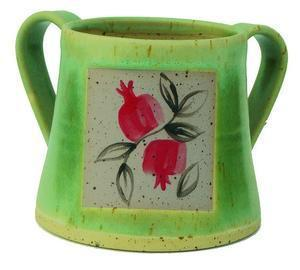 Pomegranate Handwashing Cup - Ceramic