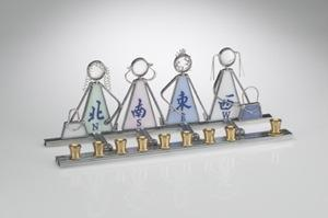 Mahjong Menorah - Stained Glass