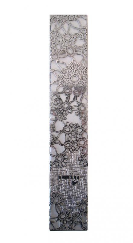 Tall Stainless Steel Mezuzah by Metalace Art