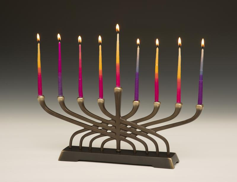 Contemporary menorah