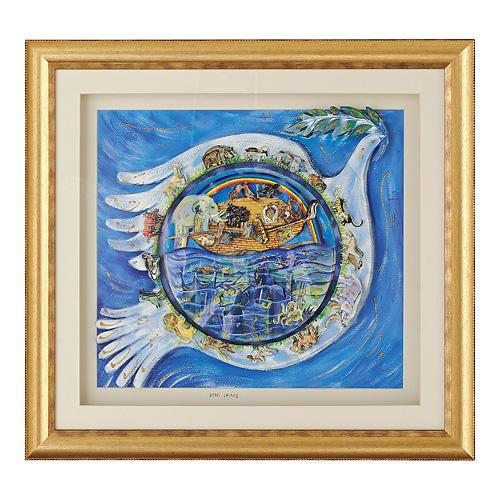 Dove of Peace 3D Framed Decoupage