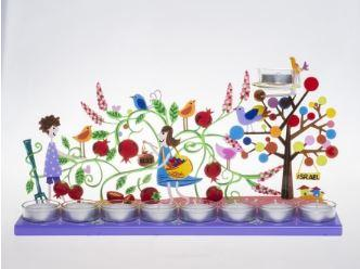 Pomegranate Menorah
