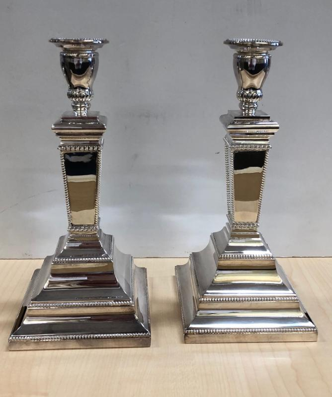 Hungarian Sterling Silver Candle Holders